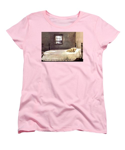 Women's T-Shirt (Standard Cut) featuring the painting Master Bedroom  by Andrew Wyeth