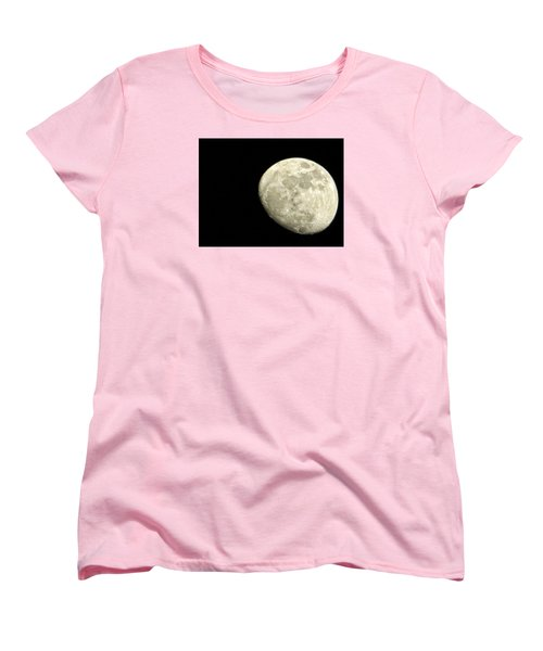 Women's T-Shirt (Standard Cut) featuring the photograph Me And The Moon Tonight by Nikki McInnes