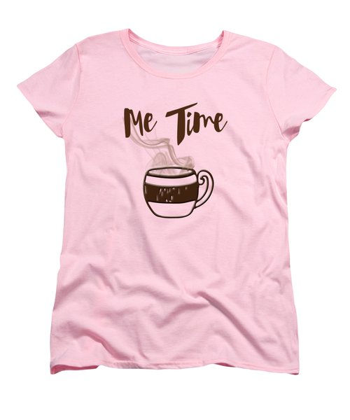 Me Time - Steaming Cup Of Coffee Women's T-Shirt (Standard Cut) by Joann Vitali
