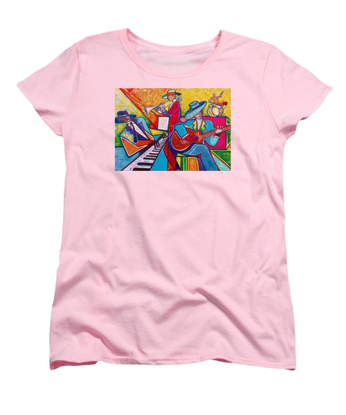 Women's T-Shirt (Standard Cut) featuring the painting Memphis Music by Emery Franklin