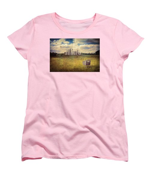 Metropolis Women's T-Shirt (Standard Cut) by Tom Mc Nemar