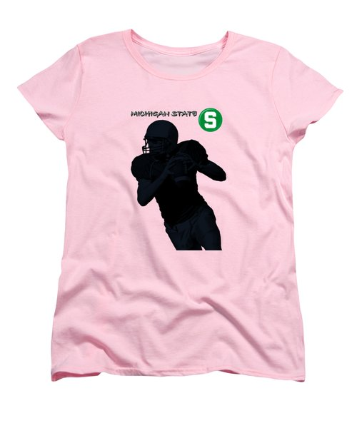 Michigan State Football Women's T-Shirt (Standard Cut)