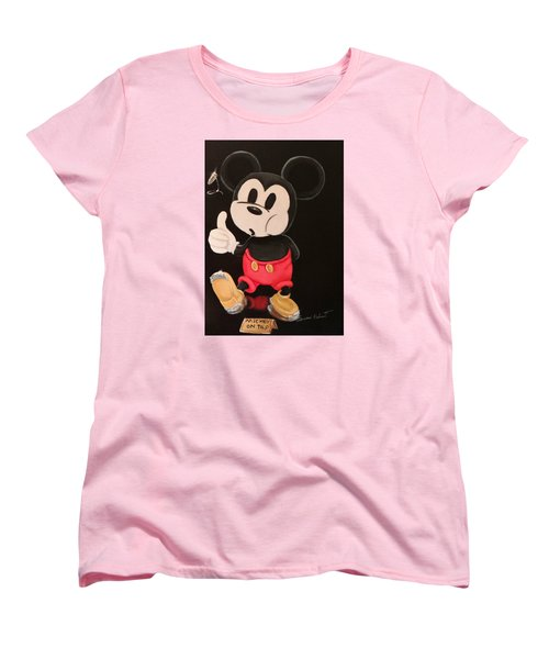 Mickey On Tap Women's T-Shirt (Standard Cut) by Susan Roberts