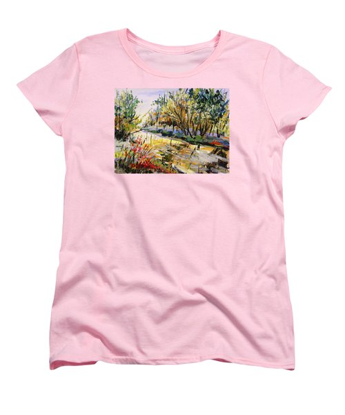 Women's T-Shirt (Standard Cut) featuring the painting Mid-morning Light by John Williams