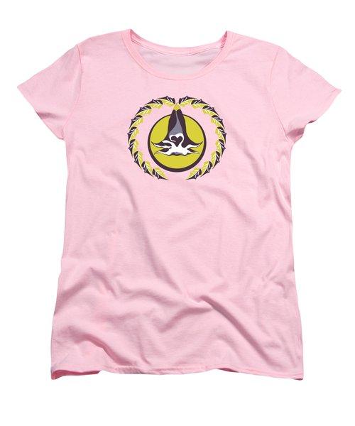 Midsummer Moonlight Floral Women's T-Shirt (Standard Cut) by MM Anderson