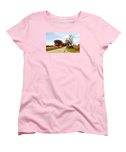 Midwest Autumn  Women's T-Shirt (Standard Cut) by Pat Cook