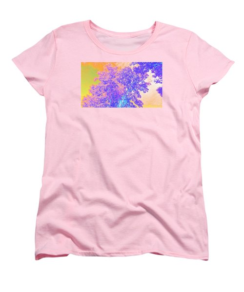 Women's T-Shirt (Standard Cut) featuring the mixed media Mighty Oak Abstract by Mike Breau