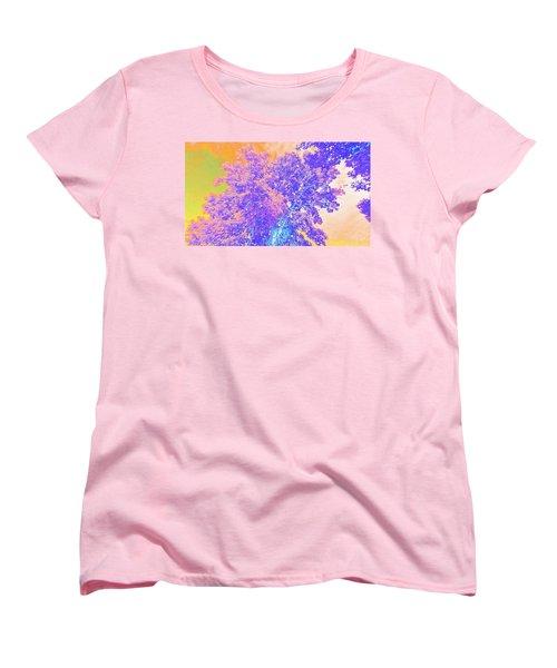 Mighty Oak Abstract Women's T-Shirt (Standard Cut) by Mike Breau