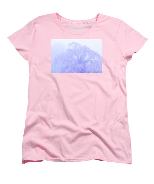 Miharu Takizakura Weeping Cherry01 Women's T-Shirt (Standard Cut) by Tatsuya Atarashi