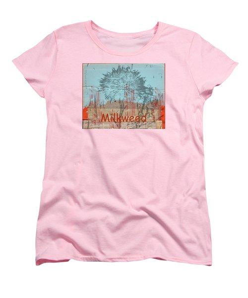 Milkweed Collage Women's T-Shirt (Standard Cut) by Cynthia Powell