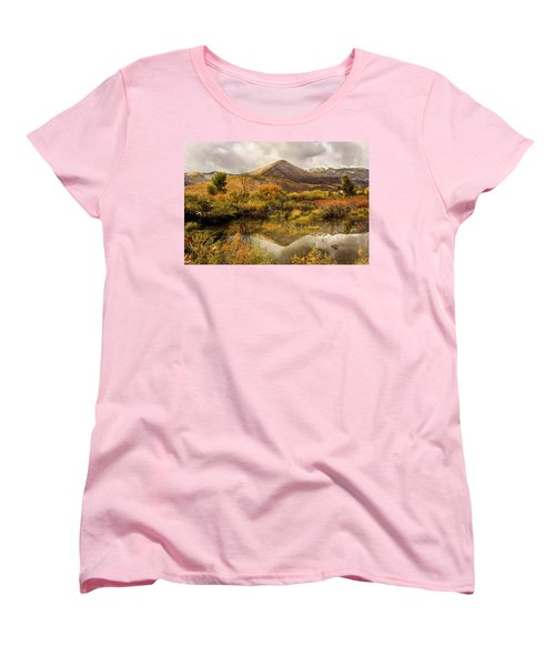 Mill Canyon Peak Reflections Women's T-Shirt (Standard Cut)