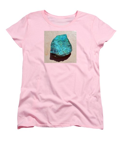 Women's T-Shirt (Standard Cut) featuring the photograph Mineral-chrysocolla by Joan Hartenstein
