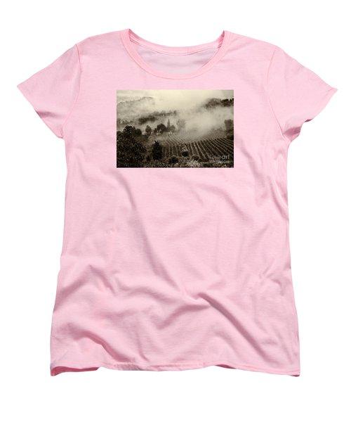 Misty Morning Women's T-Shirt (Standard Cut) by Silvia Ganora