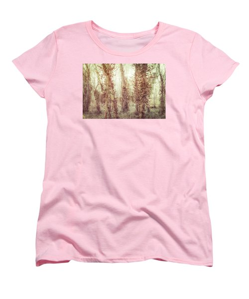 Misty Morning Winter Forest  Women's T-Shirt (Standard Cut) by Robert FERD Frank