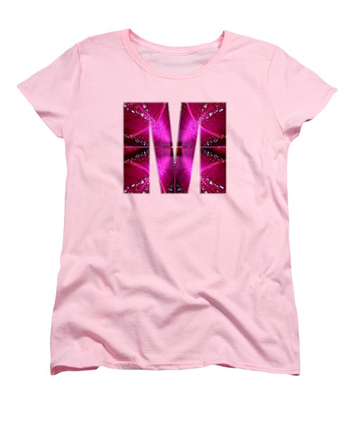 Mmm Mm M Alpha Art On Shirts Alphabets Initials   Shirts Jersey T-shirts V-neck By Navinjoshi Women's T-Shirt (Standard Cut) by Navin Joshi