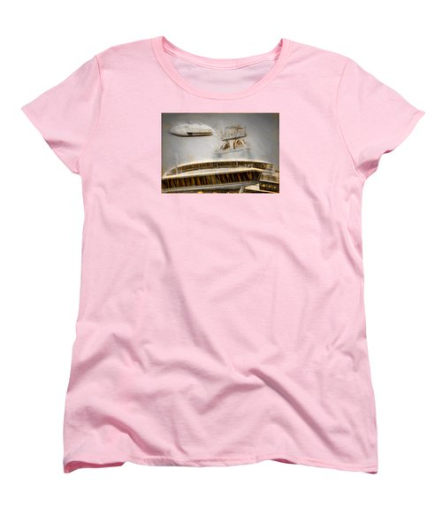Women's T-Shirt (Standard Cut) featuring the painting Moby Air by Michael Cleere