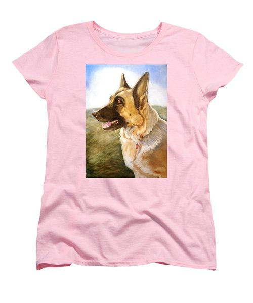 Women's T-Shirt (Standard Cut) featuring the painting Mollie by Marilyn Jacobson