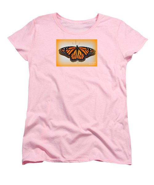 Women's T-Shirt (Standard Cut) featuring the photograph Monarch Beauty by Lew Davis