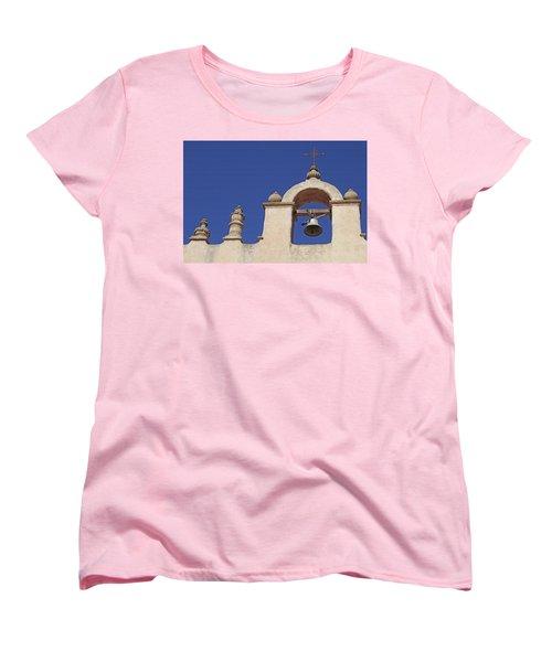 Women's T-Shirt (Standard Cut) featuring the photograph Montecito Mt. Carmel Church Tower by Art Block Collections