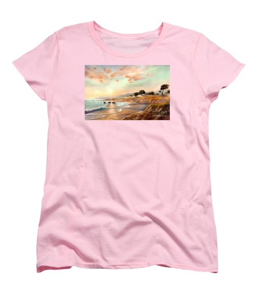 Moonstone Beach California Women's T-Shirt (Standard Cut) by Michael Rock