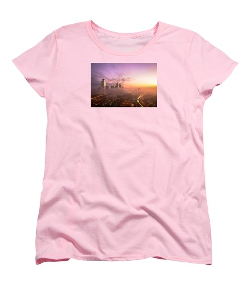 Morning Charlotte Rush Hour Women's T-Shirt (Standard Cut) by Serge Skiba