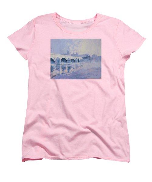 Morning Fog Around The Old Bridge Women's T-Shirt (Standard Cut) by Nop Briex