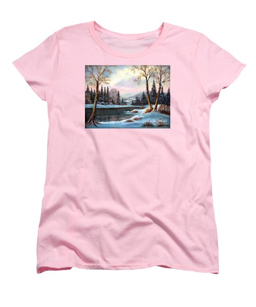 Women's T-Shirt (Standard Cut) featuring the painting Morning Glory by Hazel Holland