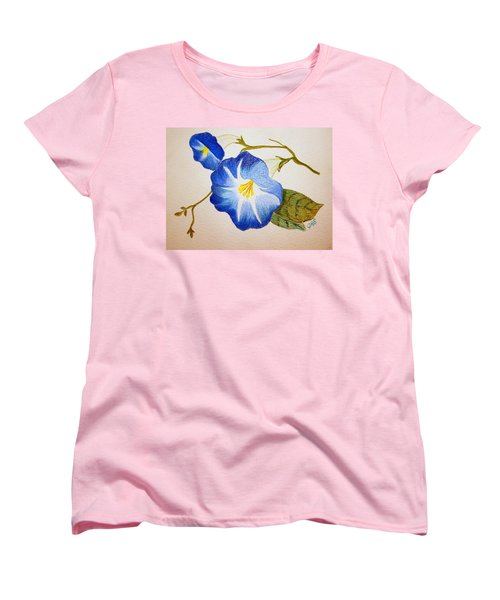 Morning Glory Women's T-Shirt (Standard Cut) by J R Seymour