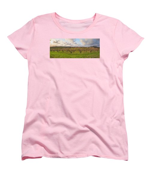 Morning Glory Orchards Women's T-Shirt (Standard Cut) by Angelo Marcialis