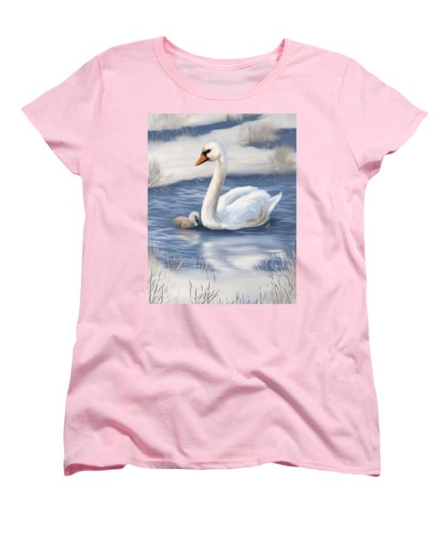 Women's T-Shirt (Standard Cut) featuring the painting Mother Love by Veronica Minozzi
