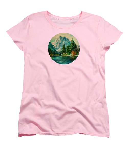 Mountain Lake Women's T-Shirt (Standard Cut) by Mary Wolf