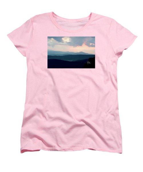 Women's T-Shirt (Standard Cut) featuring the photograph Blue Ridge Mountain Sunset by Meta Gatschenberger