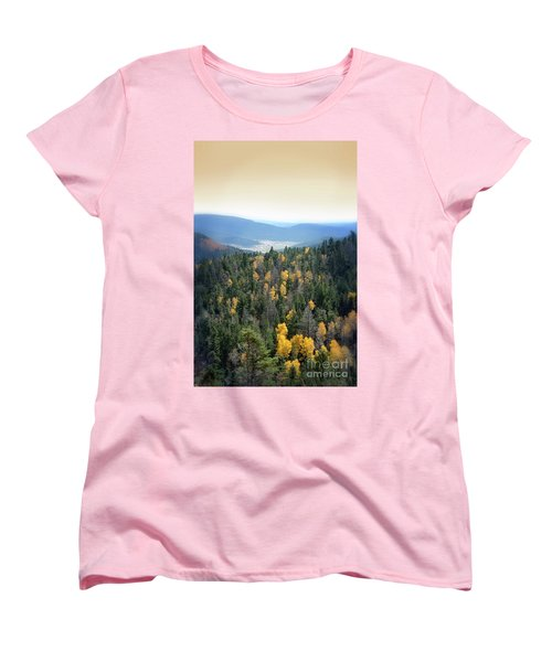 Women's T-Shirt (Standard Cut) featuring the photograph Mountains And Valley by Jill Battaglia
