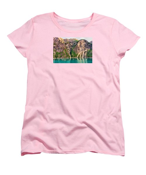 Mountains Of The Fjord Women's T-Shirt (Standard Cut) by Lewis Mann