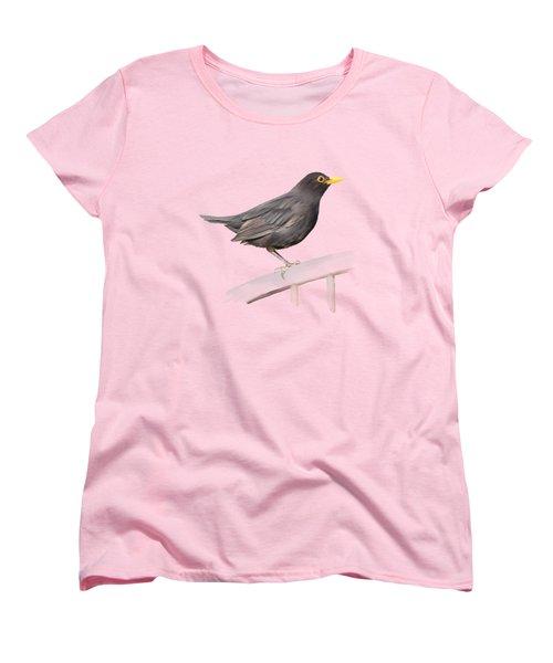 Ms. Blackbird Is Brown Women's T-Shirt (Standard Cut)