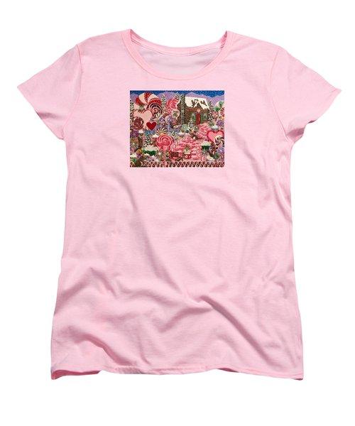Ms. Elizabeth Peppermint World Women's T-Shirt (Standard Cut) by Jennifer Lake