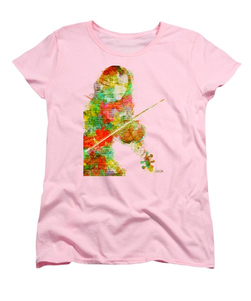 Music In My Soul Women's T-Shirt (Standard Cut) by Nikki Smith