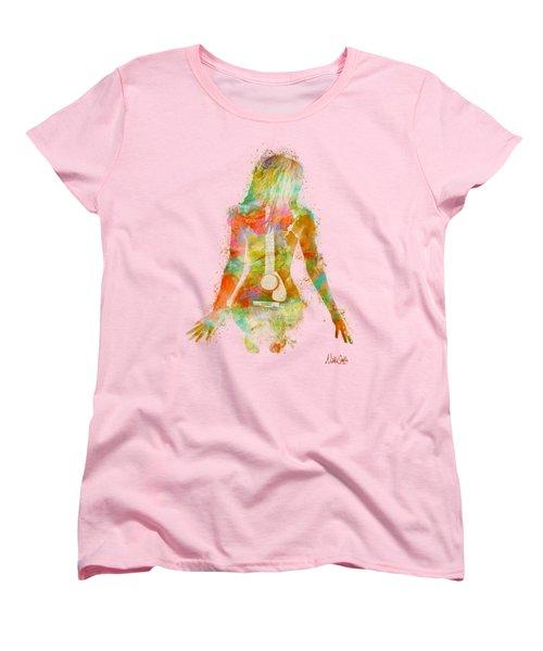 Music Was My First Love Women's T-Shirt (Standard Cut)