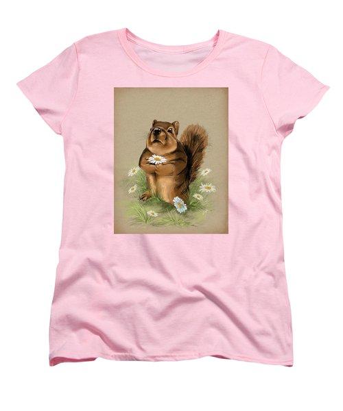 Women's T-Shirt (Standard Cut) featuring the painting My Gift For You by Veronica Minozzi