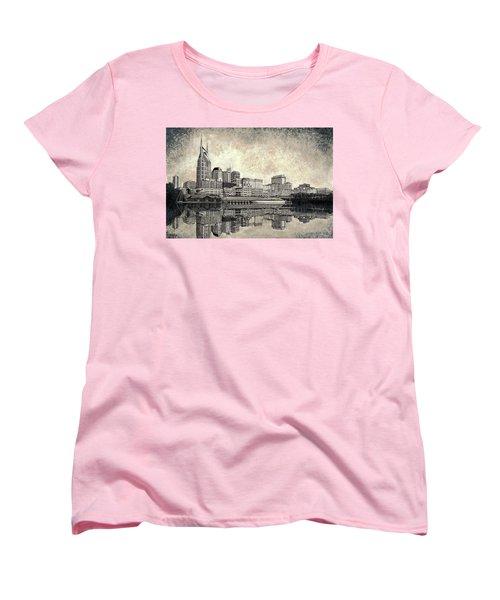 Nashville Skyline II Women's T-Shirt (Standard Cut) by Janet King