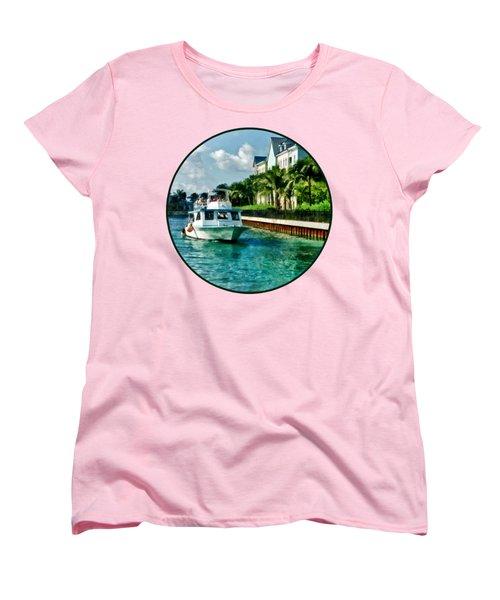 Bahamas - Ferry To Paradise Island Women's T-Shirt (Standard Cut) by Susan Savad