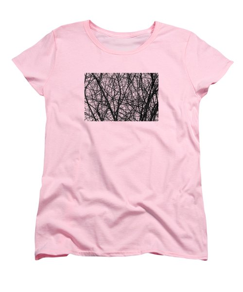 Natural Trees Map Women's T-Shirt (Standard Cut) by Konstantin Sevostyanov