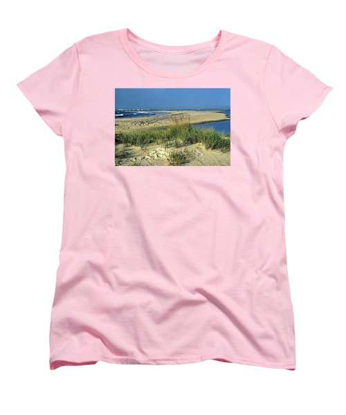 Women's T-Shirt (Standard Cut) featuring the photograph New Jersey Inlet  by Sally Weigand