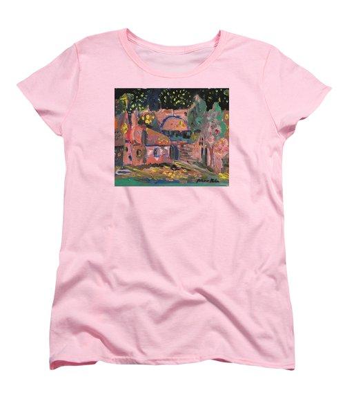 Night Landscape Women's T-Shirt (Standard Cut) by Rita Fetisov
