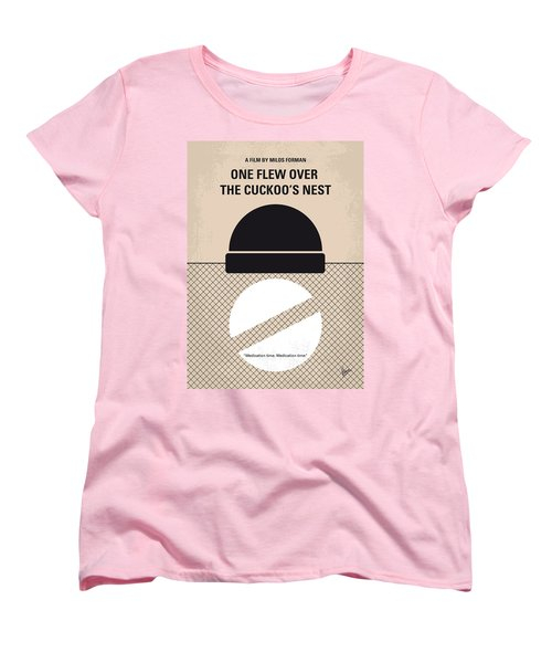 No454 My One Flew Over The Cuckoos Nest Minimal Movie Poster Women's T-Shirt (Standard Cut) by Chungkong Art