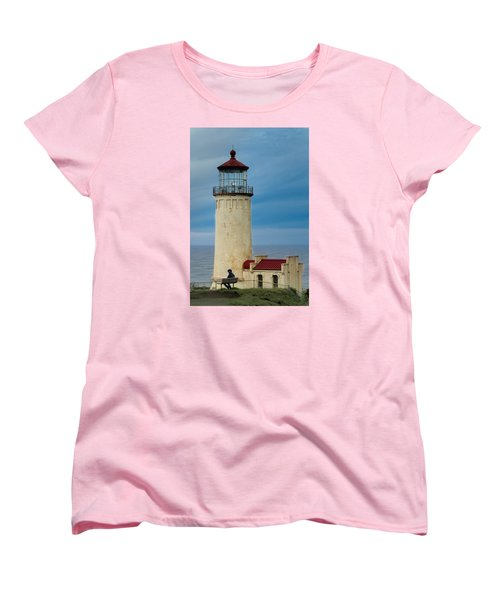 North Head Lighthouse Women's T-Shirt (Standard Cut) by E Faithe Lester