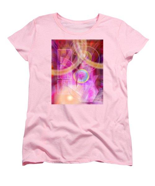 Northern Lights Women's T-Shirt (Standard Cut) by John Robert Beck
