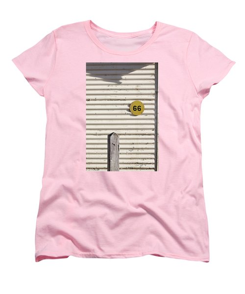 Women's T-Shirt (Standard Cut) featuring the photograph Number 66 by Linda Lees