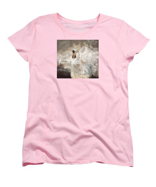 Nymph Of The Sky Women's T-Shirt (Standard Cut) by Lilia D