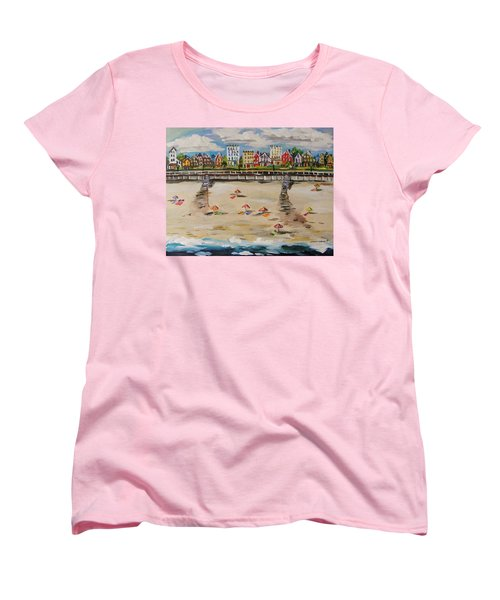 Women's T-Shirt (Standard Cut) featuring the painting Ocean Ave By John Williams by John Williams